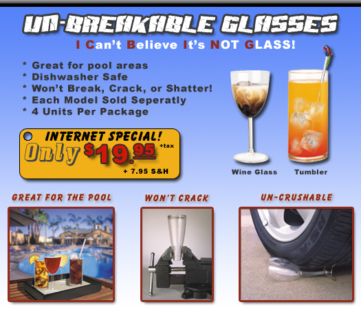 Incredible Unbreakable Glassware